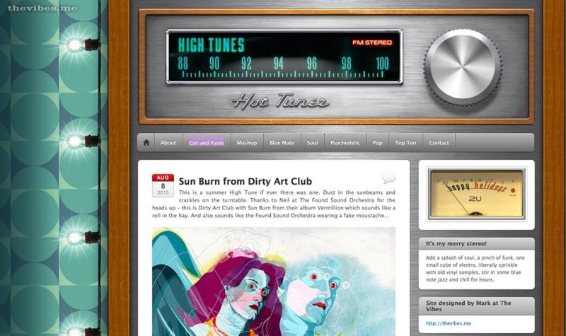 Sun Burn Dirty Art Club on High Tunes