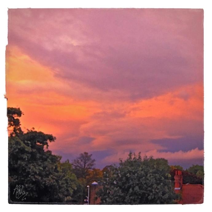 Pre-Raphaelite sunset in Chorlton by Mark Wallis