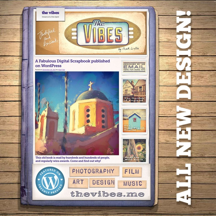 The Vibes - WordPress blog designed by Mark Wallis around the Adventure Journal theme