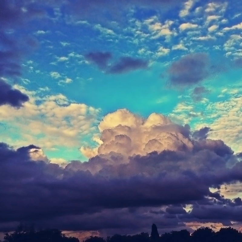 Sky over Chorlton cum Hardy by Mark Wallis