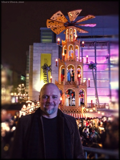 Mark Wallis at the Christmas Markets in Manchester