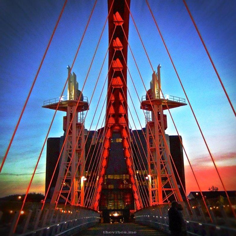 Bridge Salford Quays by Mark Wallis