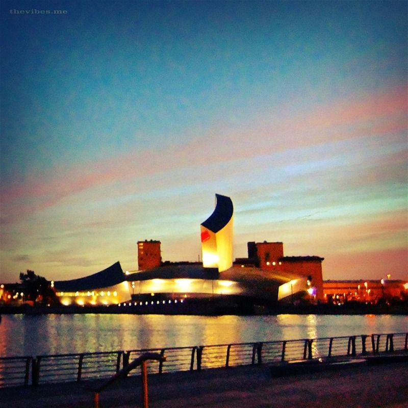 The Imperial war Museum, Salford Quays at dusk by Mark Wallis