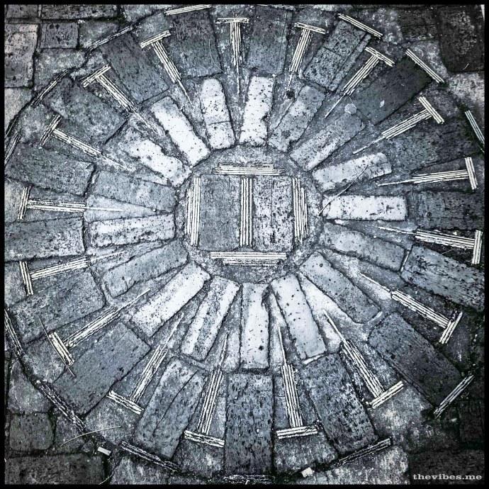 Pavement mosaic Beech road Chorlton by Mark Wallis on thevibes.me