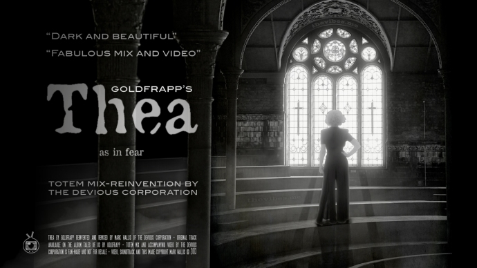 Poster for Goldfrapp's Thea - Totem Mix by Mark Wallis of The Devious Corporation