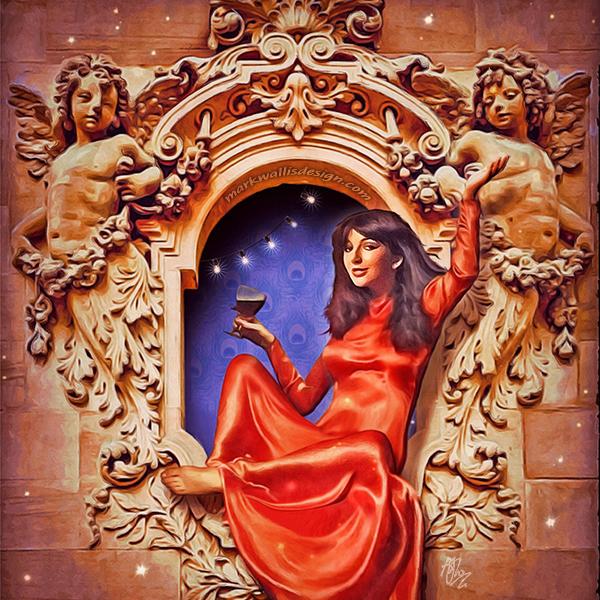 Kate Bush Christmas card by Mark Wallis Design