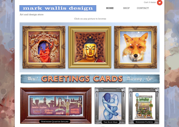 Mark wallis Design Website Homepage