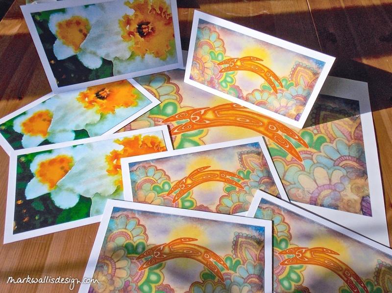 Mark Wallis Ostara Hare colour cards and prints