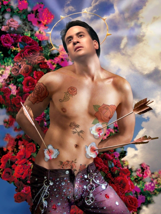 Ed Miliband by Mark Wallis via Pierre et Gilles
