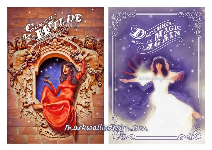 Kate Bush Christmas Cards by Mark Wallis Design