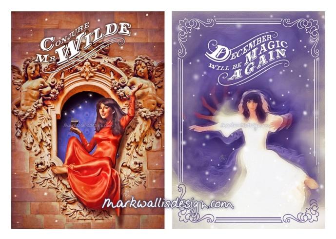 Kate Bush Christmas Cards by Mark Wallis Design